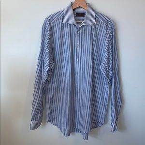 💐3/$50 ETRO Blue Pinstripe Dress Shirt